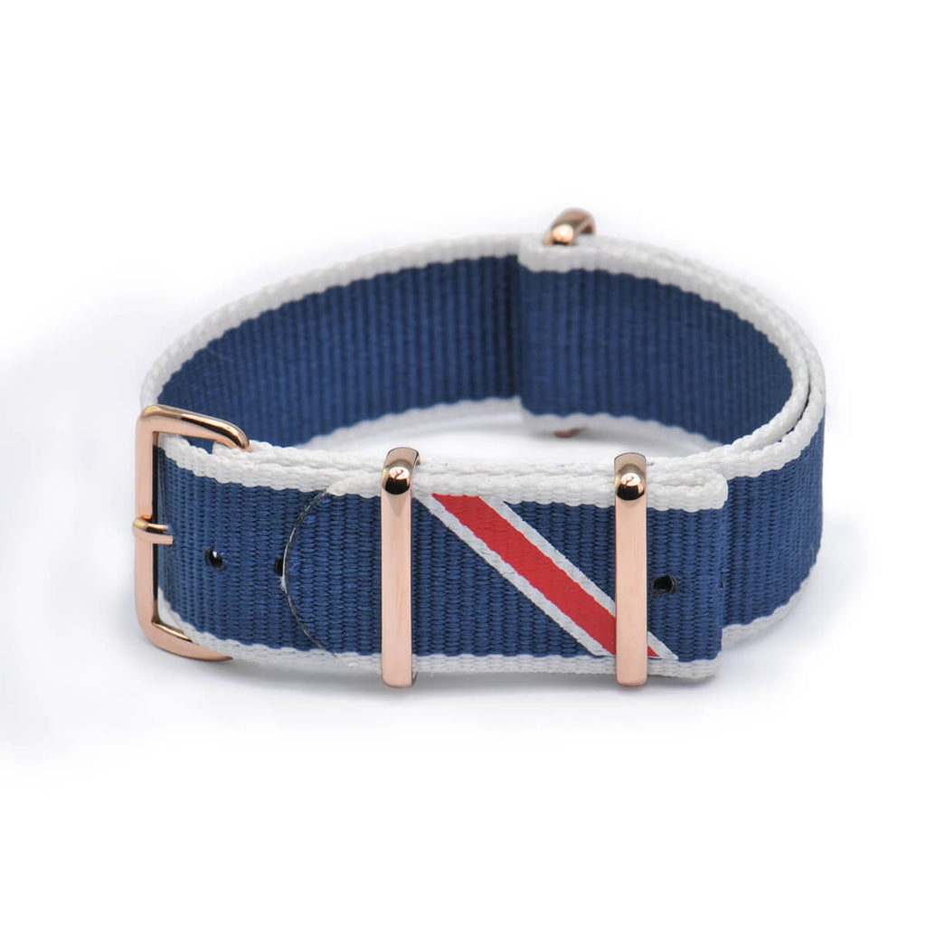 Straight Jacquard Blue Strap | 20mm - quality watches made affordable by HYPERGRAND