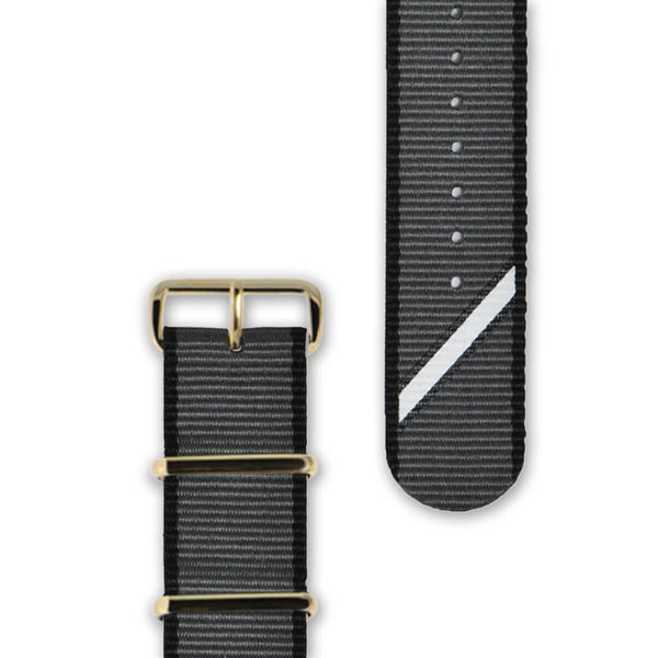 Straight Jacquard Grey Strap | 20mm - quality watches made affordable by HYPERGRAND