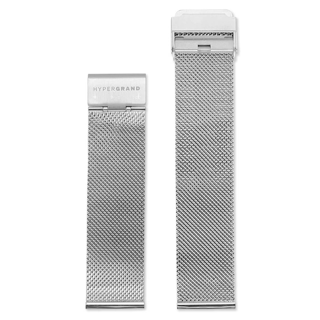 Silver Mesh Band | 22mm - quality watches made affordable by HYPERGRAND