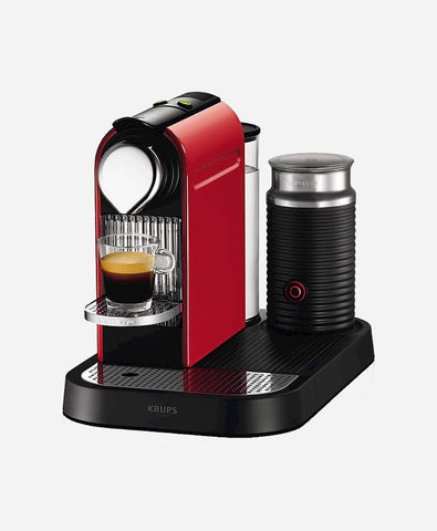Nespresso Krups CitiZ & Milk Fire Engine Red Coffee Machine