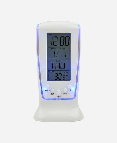Clockology Digital White Clock