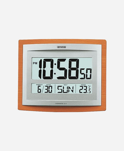 Casio Digital Wall Clock (Brown, Ash, With Glass)