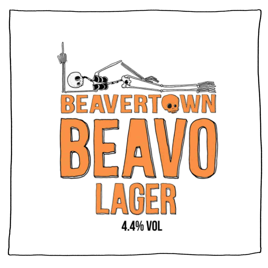 Throw me a bone! Try our new lager, Beavo