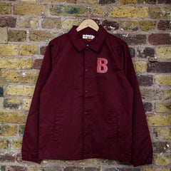 Burgundy Polycotton Coach Jacket - Beavertown