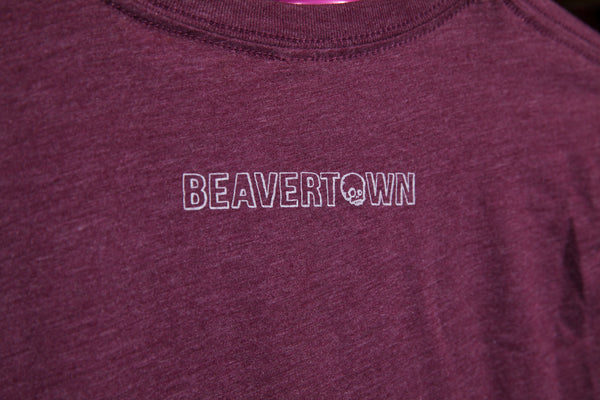 Beavertown London T Shirt - Burgundy