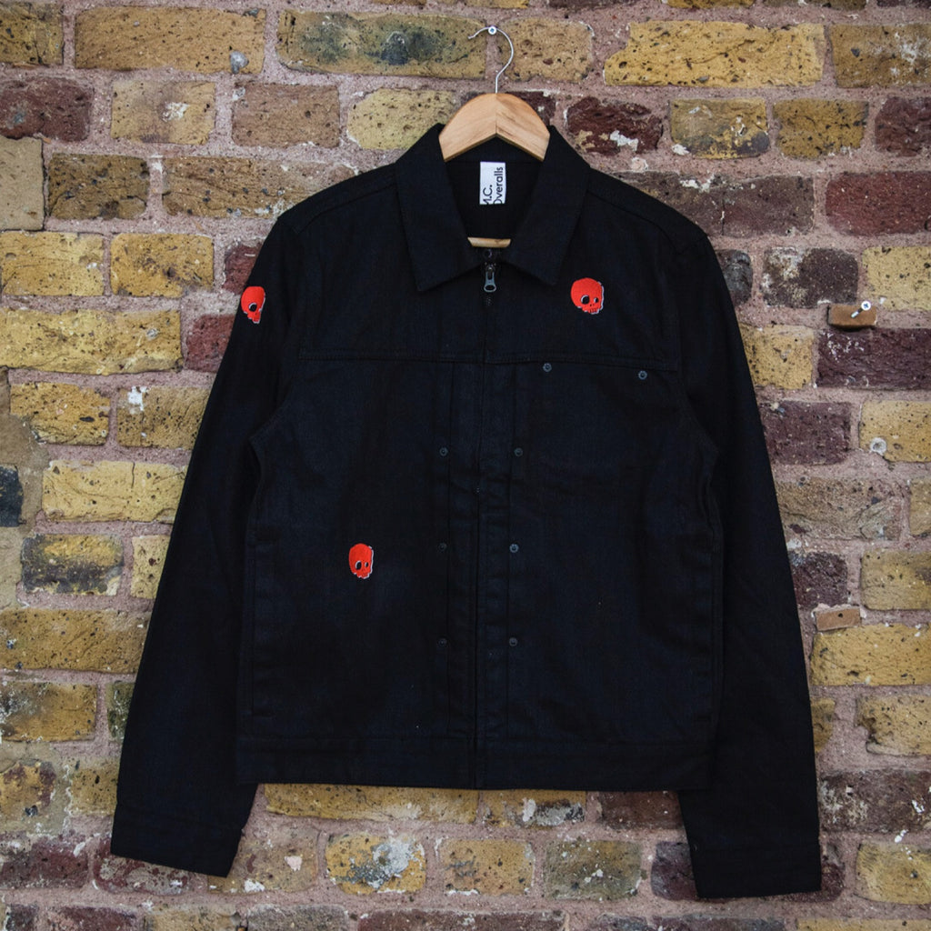 Black Embroidered Denim Jacket