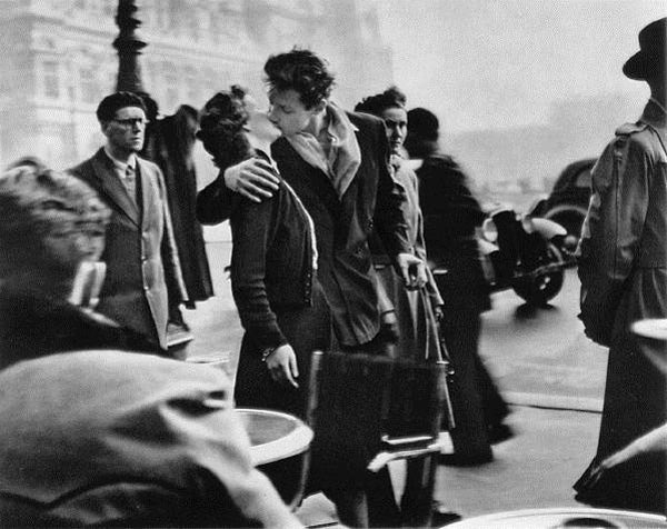 The Kiss by the Hotel de Ville, Paris 1950  - by Robert Doisneau