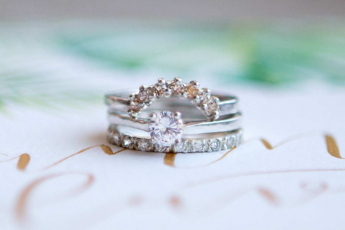 Engagement rings from Audrey Claude Jewellery