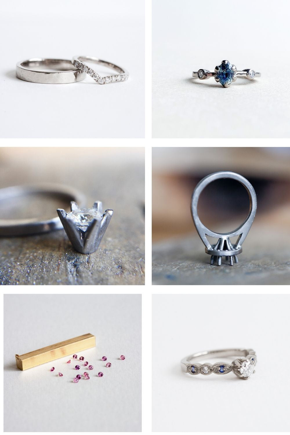 Selection of bespoke designs from Audrey Claude Jewellery