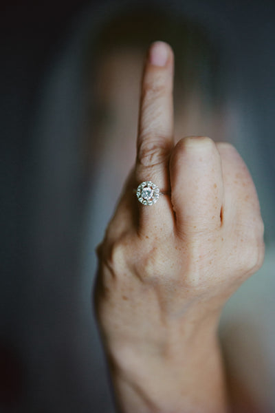 Halo ring from Audrey Claude Jewellery