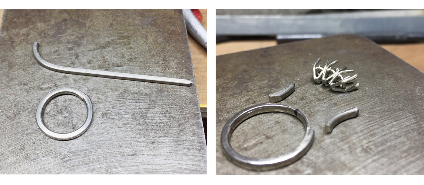 3 stone ring process shots from Audrey Claude Jewellery