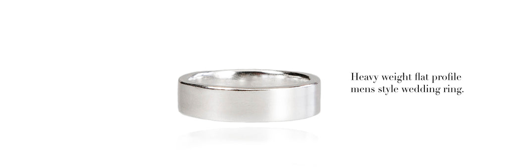 Heavy weight Mens wedding ring