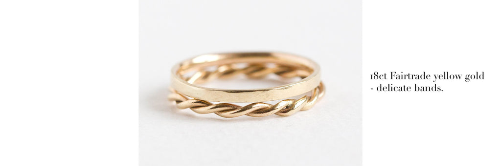 Fairtrade 18ct yellow gold wedding rings