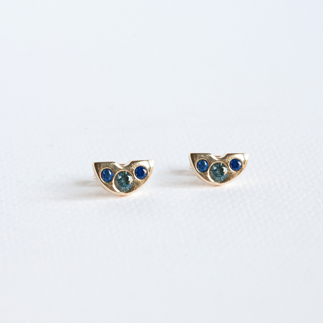Box of Light Stud Earrings in Blue