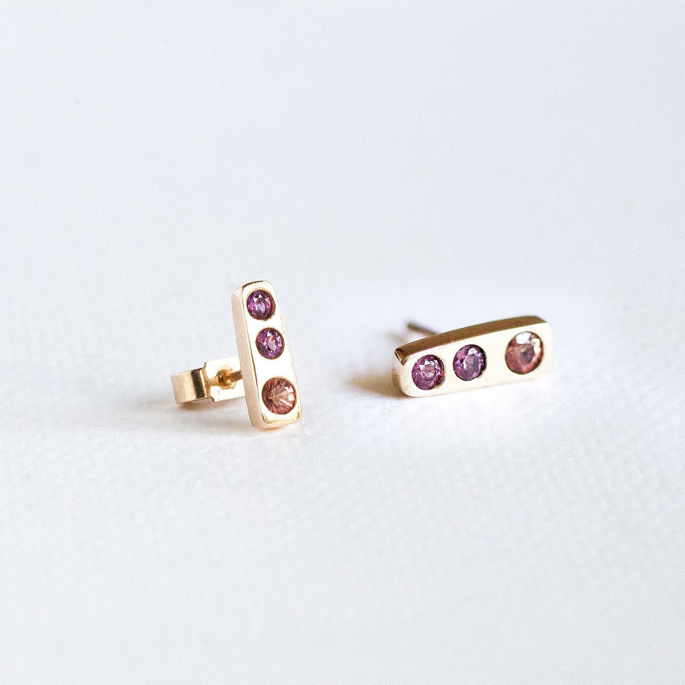 Box of Light Stud Earrings in Pinks