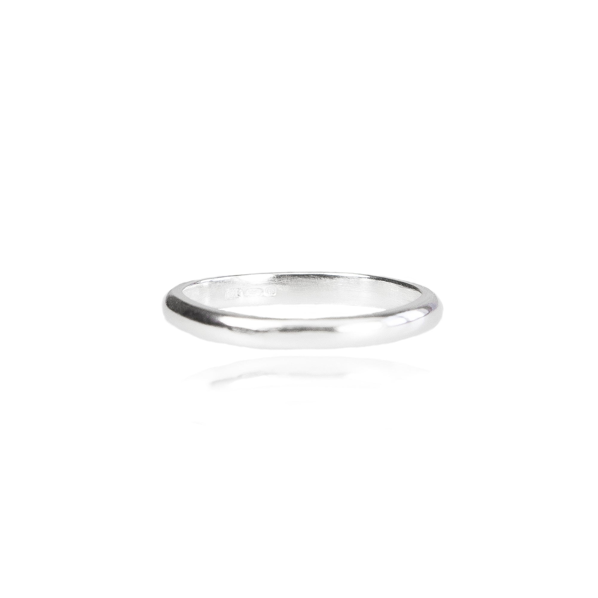 2mm D Wedding Ring in 18ct Gold