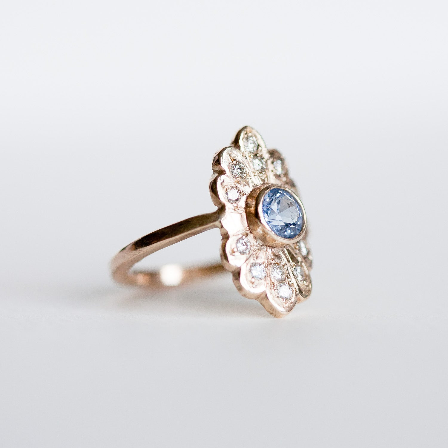 Sapphire Flare ring