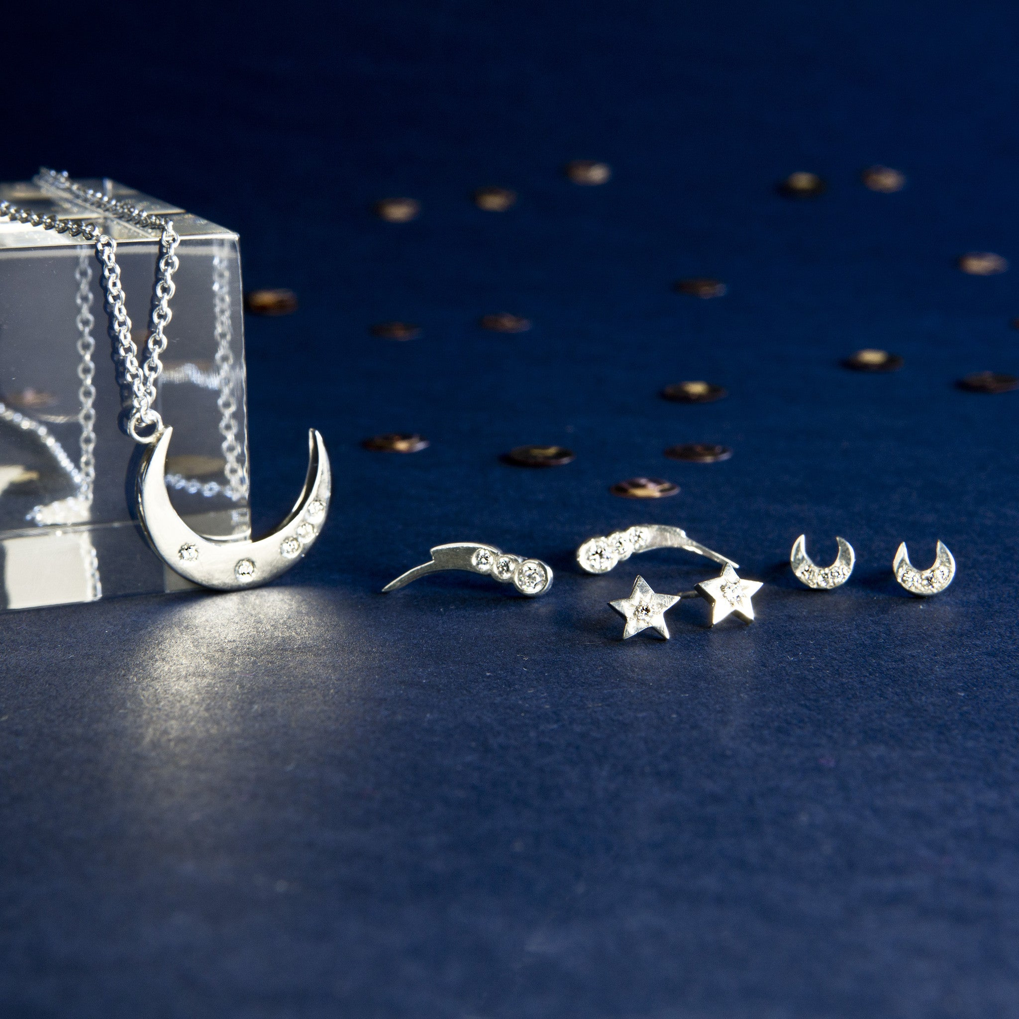 Celestial Shooting Star Studs