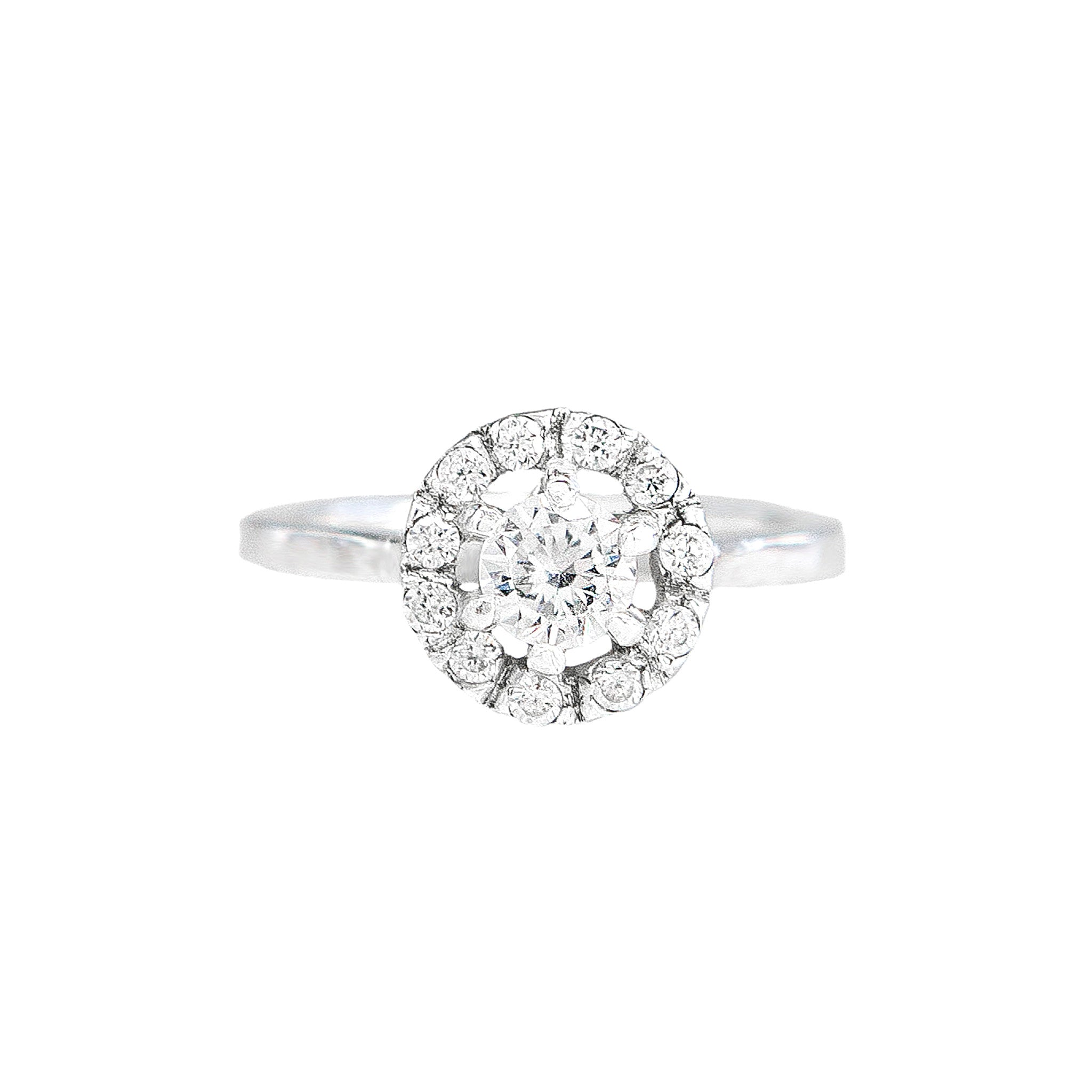 Colette Ethical Halo Engagement Ring
