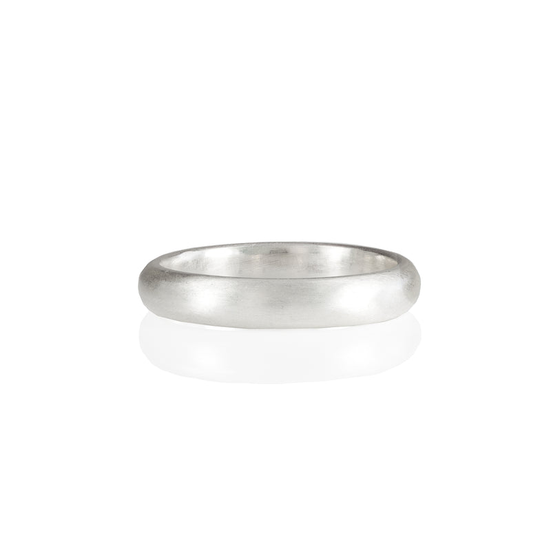 4mm Matte Wedding Ring in 18ct Gold