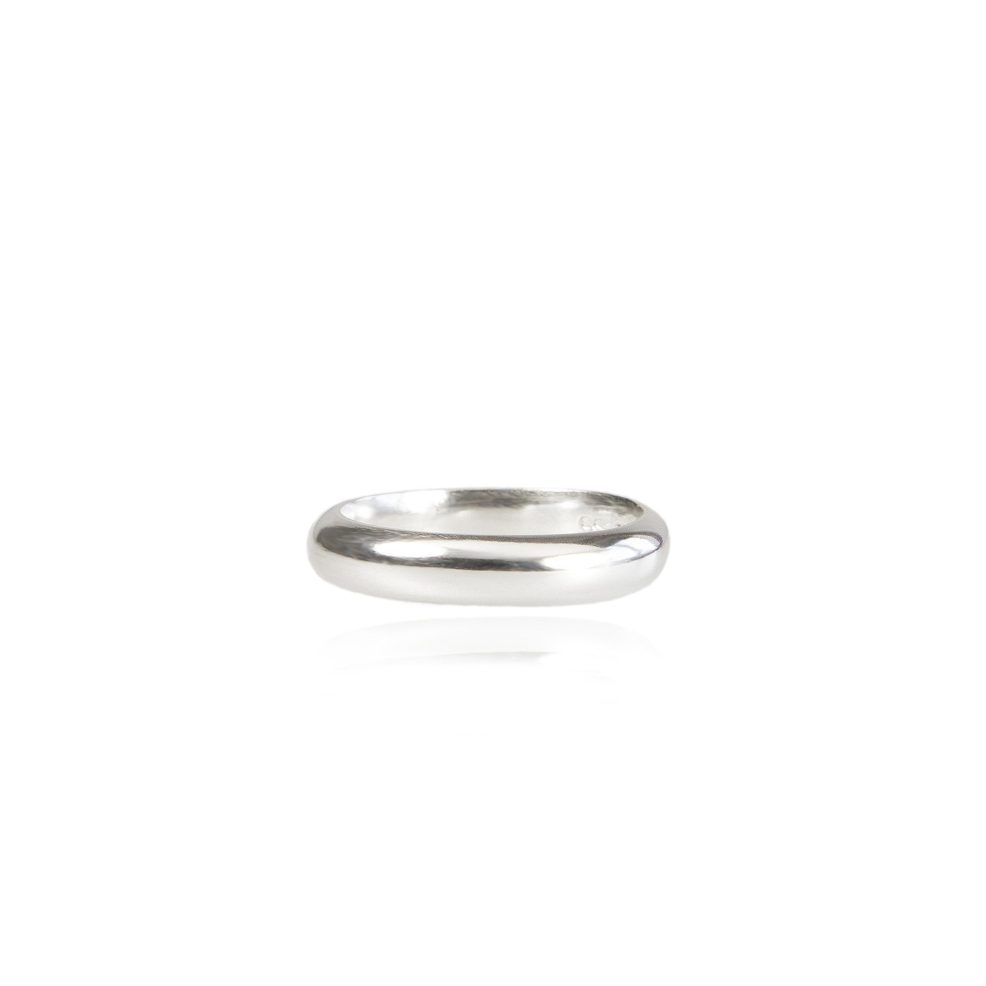 4mm D Wedding Ring in 18ct Gold