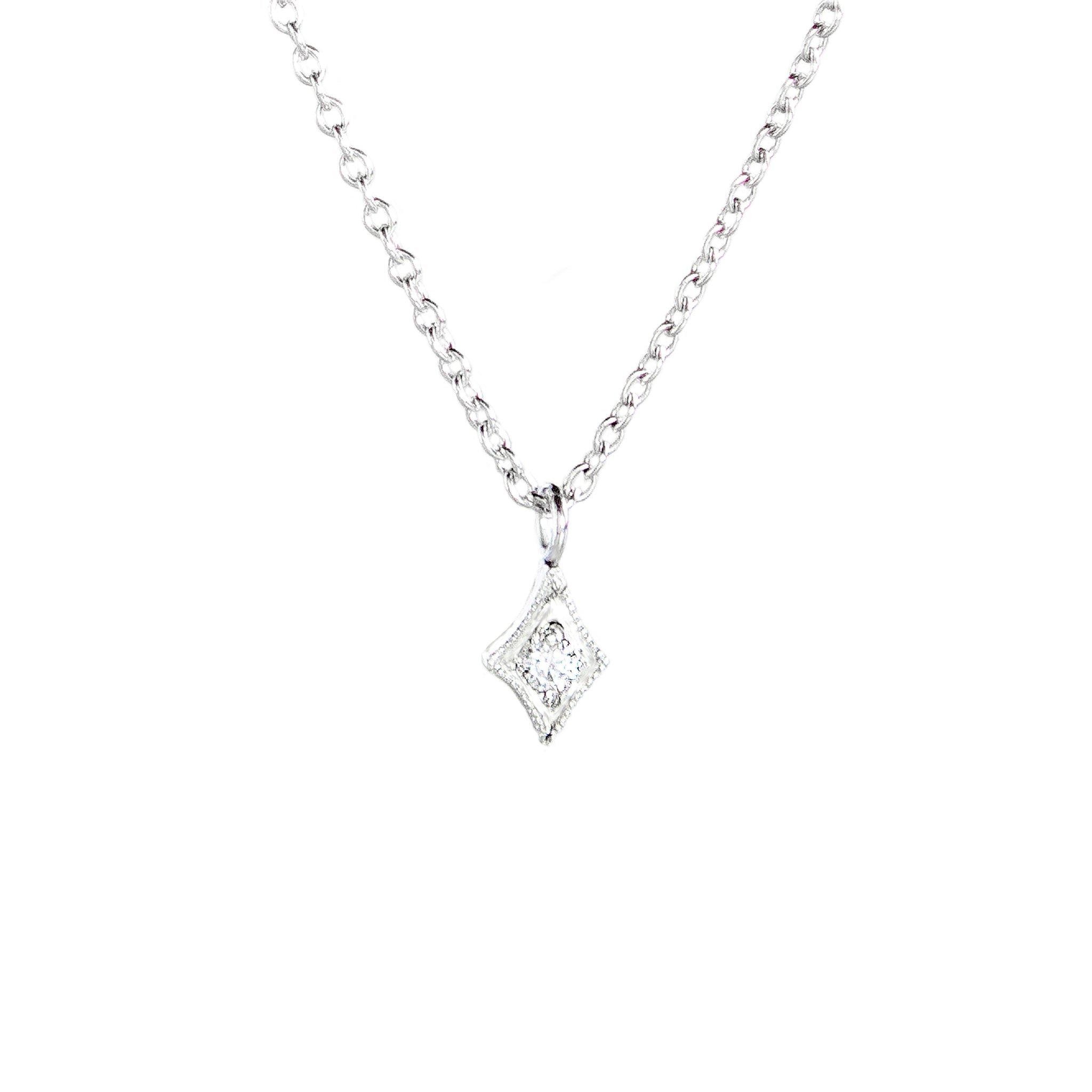 Santuari Diamond Teardrop Necklace