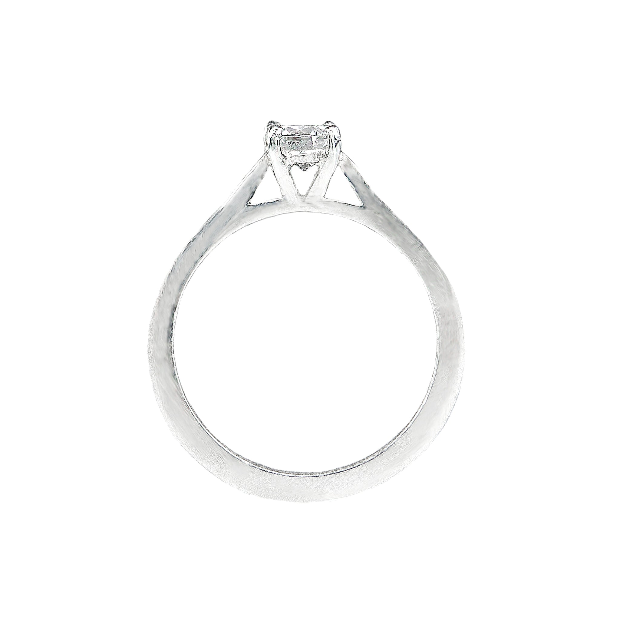 Rose Solitaire Ethical Engagement Ring