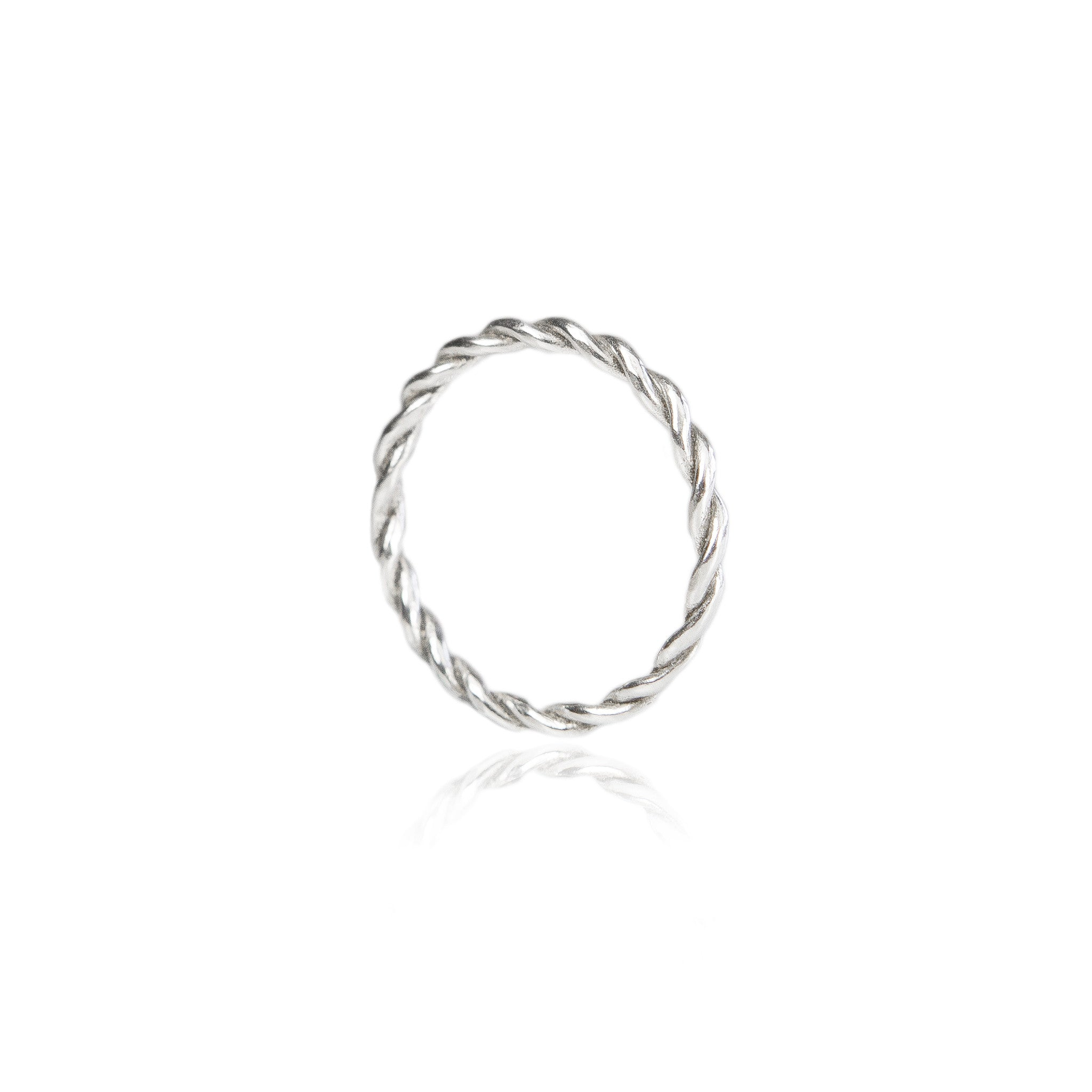 Celeste Twisted band - 18ct White Gold