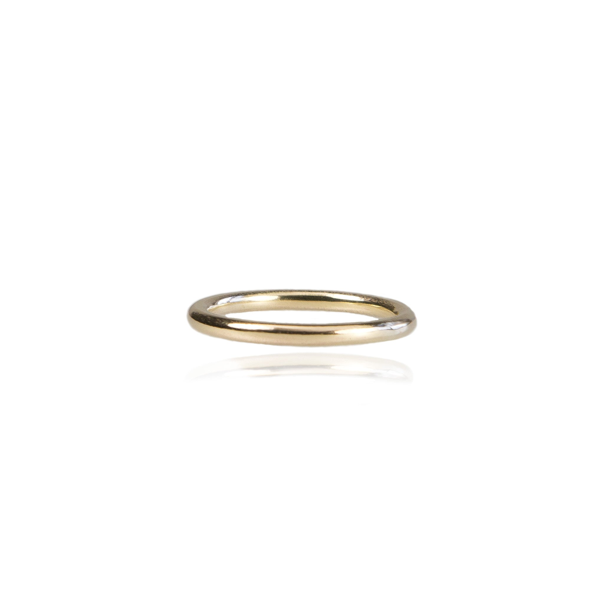 2mm Halo Wedding Ring - 18ct Yellow Gold