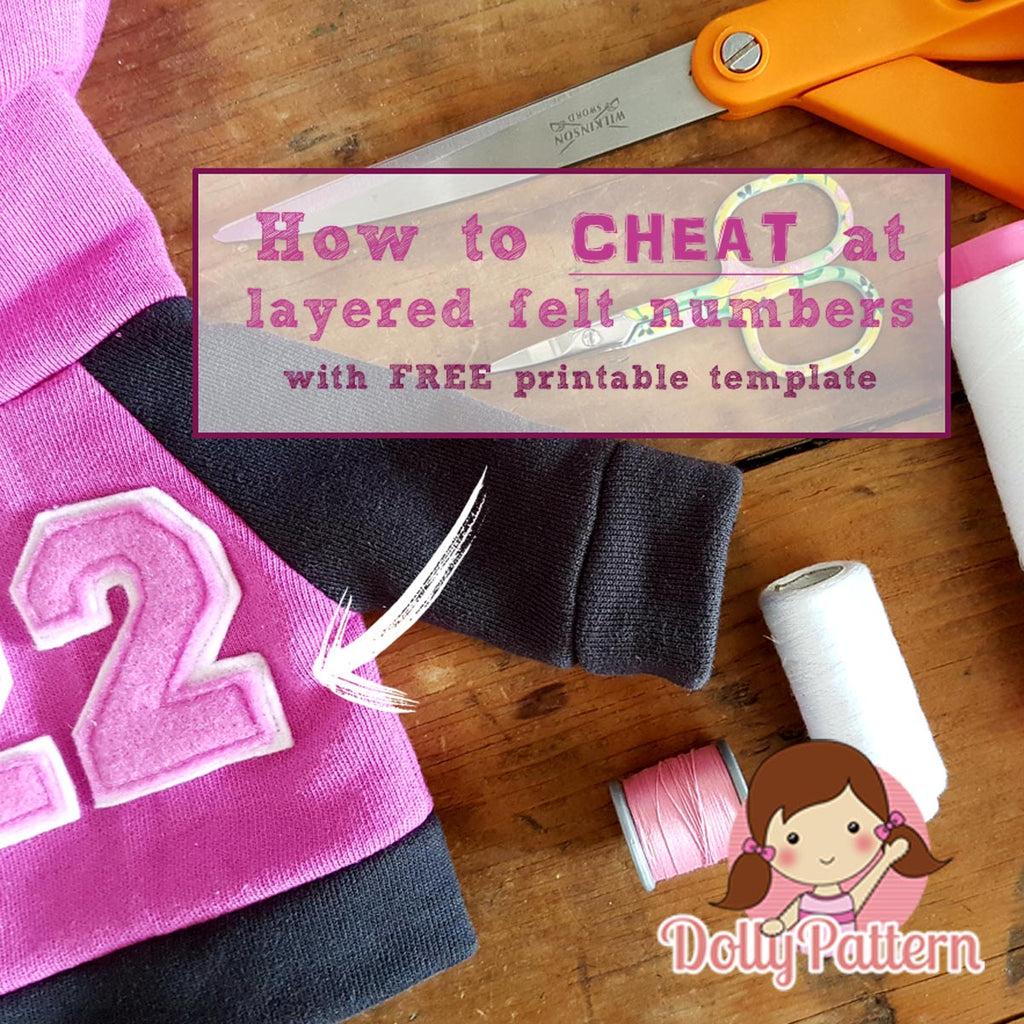 Easy layered felt number appliques