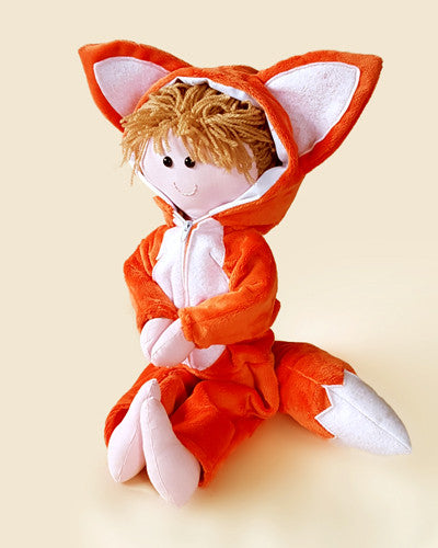 rag doll fox costume orange plush