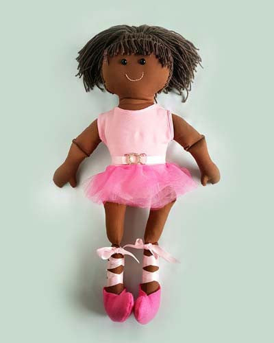 ballerina rag doll custom sewing pattern