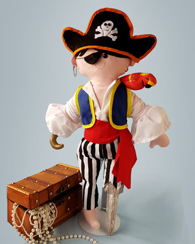 boy rag doll sewing pattern pirate costume