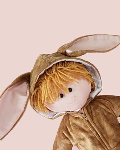 make a rag doll and bunny rabbit costume Dolly Pattern 1