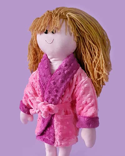 make a rag doll and bathrobe dressing gown sewing pattern