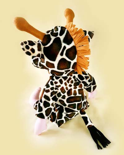 sew a custom rag doll giraffe pattern back