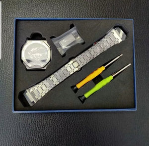 G-SHOCK GA-2100 'CasiOak' 3rd Gen Steel Mod kit with tools - SwissWatchers
