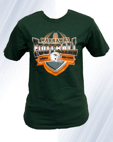 Warhawk FootBall T-Shirt (Green)
