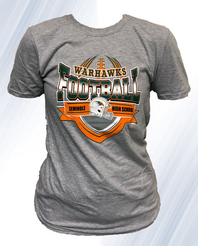 Warhawk Football T-shirt (Gray)