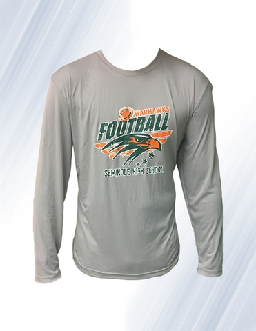 Warhawk FootBall Dri-Fit Long Sleeve (Gray)