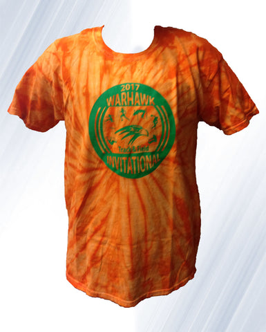 Track and Field Tie-dye Orange and Green Short Sleeve 2 for $15
