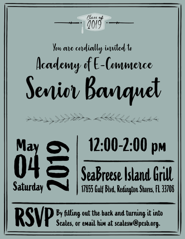 E Commerce Senior Banquet