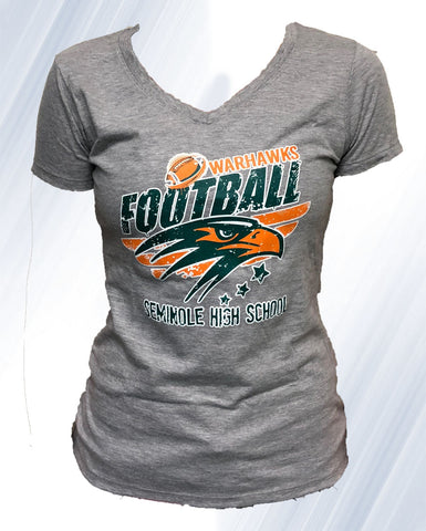 Warhawk Football V-Neck (Gray)
