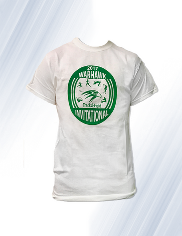 Track and Field White Short sleeved T-Shirt 2 For $15