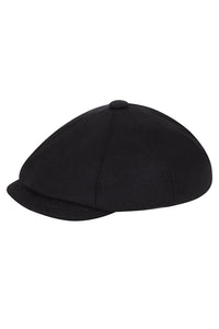 Wool Baker Boy Hat - Navy