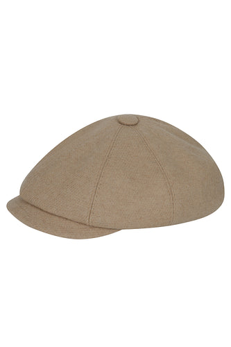 Wool Baker Boy Hat - Oat
