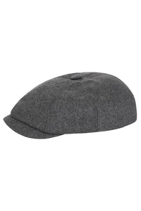 Wool Baker Boy Hat - Light Grey