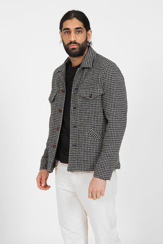 ARCHIVE 015 - Navy Houndstooth Hawley Over Shirt
