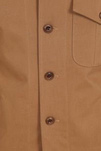 ARCHIVE 009 - Breck Over-Shirt - Tan Stretch Cotton