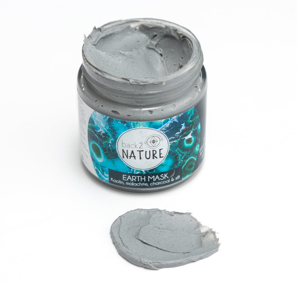EARTH MASK, 100ml |  Kaolin clay, malachite crystal, charcoal & silt